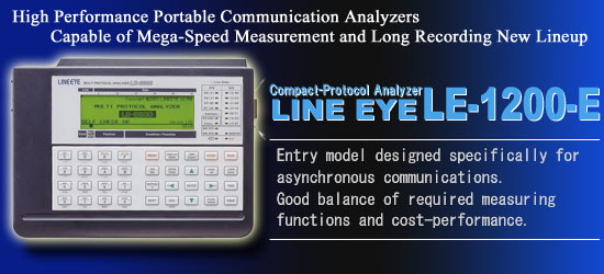 Multi-protocol analyzer LE-1200-E
